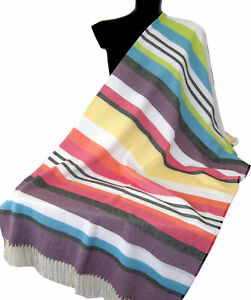 MISSONIHOME SHAWL BEACH TOWEL MASTER MODERNO COLLECTION  NIGG 156  COTTON