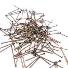Bronze Tone Connectors Head Pins 100pcs x 30mm Jewelry Making DIY