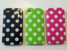 LOT OF 3! NEW Soft Plastic Back Skin Cover Cases For IPHONE 4/4S. Polkadot