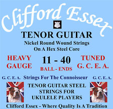 TENOR GUITAR STEEL STRINGS FOR UKULELE PLAYERS TUNED GCEA WITH A LOW G.