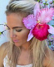 Big Fuchsia Baby Pink Lily Hair Clip Slide Choochie Choo Bride Bridal Wedding