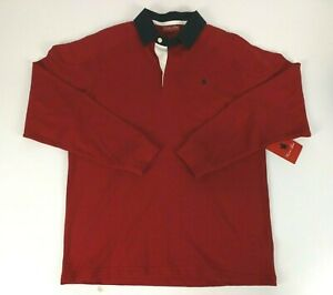Thomas Cook Size S Jumper Red Bill Shoulder Panel Rugby Polo Collar New