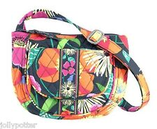 VERA BRADLEY Lizzy Crossbody JAZZY BLOOMS Tote Hipster Shoulder Bag $48 Island