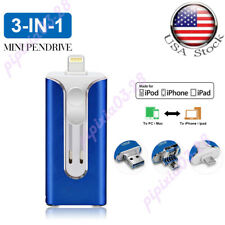 512GB USB 3.0 Flash Drive 3-In-1 Memory OTG Pendrive For iPhone IOS Android US