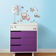 Roommates Prisma Owls and Butterflies Peel & Stick Wall Decals Kids Wall Decor