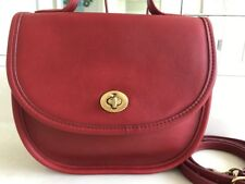 COACH VINTAGE BELLA COURT RED CROSSBODY CONVERT HANDLE BAG PURSE RARE!!!!  EUC