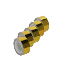 Car 1200°f Continuous Gold Reflective Heat Shield Self-Adhesive Wrap Tape 5 Pcs