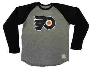 Philadelphia Flyers Retro Brand Gray Black Two Tone Long Sleeve T-Shirt (2XL)