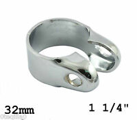 1 attache guidon chrome retro moto handelbar speedo clamp bobber chop 32 mm 11/4