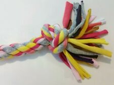 BRAND NEW t-shirt rope puppy dog toy Pink Yellow Gray