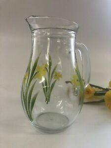 Individually hand painted Daffodil Jug