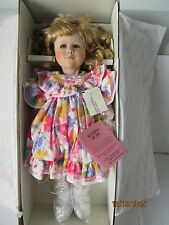 "Very Rare  NWT Vintage 1993 Effanbee Porcelain Doll 18"" Allison SP 106 COA"