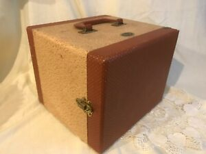Vintage BAJA Barnett & Jaffe Tweed Hard Case Slide Storage Box