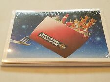 HARLEY DAVIDSON CHRISTMAS CARDS #X602 SANTA DELIVERY GIFTS IN HARLEY SLEIGH(10)
