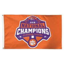 Clemson Tigers Wincraft 2018 Ncaa National Champions Deluxe 3 x 5 Flag Free Ship
