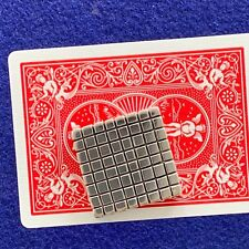 """Poker Card Guard. """"Squared"""", Handmade Sterling Silver, Chrome Hearts style"""