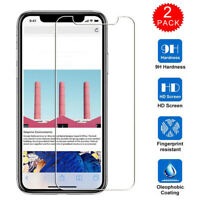 2Pcs For iPhone 11 Pro MAX X XS XR 8 7 6s Plus Tempered Glass Screen Protector