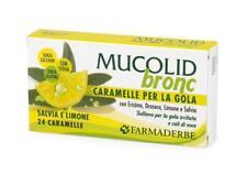 Mucolid Bronc Caramelle Salvia e Limone - Farmaderbe - 24 Caramelle