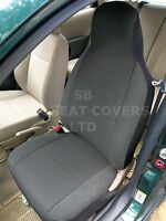 TO FIT A BMW i3, CAR SEAT COVERS, RAVEN ANTHRACITE CLOTH, 2 FRONTS