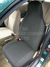 TO FIT A NISSAN ALMERA, CAR SEAT COVERS, RAVEN ANTHRACITE CLOTH, 2 FRONTS