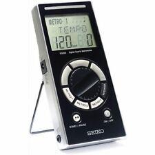 Seiko Sq200 Multi-Function Digital Quartz Metronome, Black