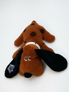 """Applause 1986 KENNEL PUP Plush Stuffed Puppy Dog Brown Black White Collar 10"""""""