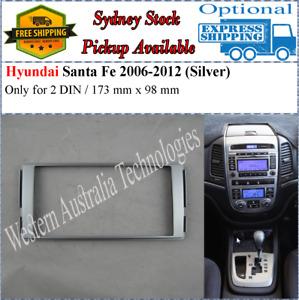 Fascia facia Fits Hyundai Santa Fe 2006-2012 Double Two 2 DIN Dash Kit