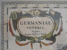 Carte par Johannes JANSSONIUS, Germaniae Veteris typus {roman Allemagne} 1646 -1656.