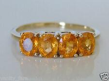 Beautiful 9ct Gold Serengeti Spessartite Garnet Ring Size R/S