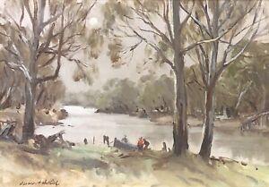 Original Oil Painting by Dermont James John Hellier (Aust 1916-2006)
