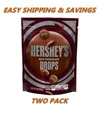 Hershey's Milk Chocolate Drops 8 oz TWO PACK PER ORDER EASY SHIPPING