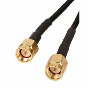 2m to 5m SMA Male Plug To SMA Male Plug Jumper Pigtail Cable RG174 UK Seller