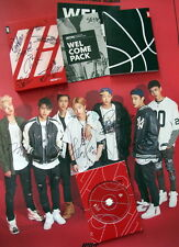 IKON Autographe​d 2015 with penFirst album WELCOME BACK album new korean 10.2015