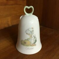 Vintage 1980s Precious Moments Bell October Enesco Porcelain