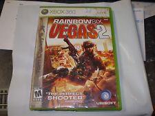 XBOX 360 RAINBOW SIX VEGAS 2 GAME  W/ MANUAL USED UNTESTED