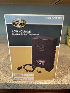 Hampton Bay Black Digital Transformer 300-Watt Low Voltage 1001 509 794 New FS