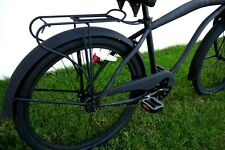 "GreenLine Universal 26"" Steel Beach Cruiser Bicycle Rear Rack - Flat Black"
