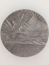 Germany/German WWI Goetz Lusitania medallion British Propaganda Copy