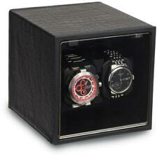 Rotations Black Faux Leather Dual Watch Winder GM18029