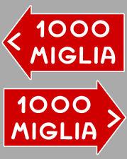1000 MILLE MIGLIA RACING  2 X AUTOCOLLANTS STICKER 10cm  -MA030-