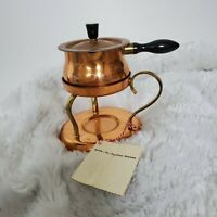 Vintage Spring Switzerland Copper Warmer Pourer Sauce Pan