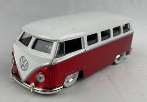 1962 Volkswagen Bus Van RED Diecast Model Toy 1:32 Scale Jada Toys 91532