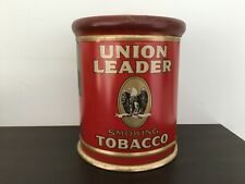 Vintage empty Union Leader tobacco tin-antique-advertising
