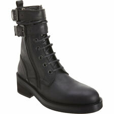 SALE Ann Demeulemeester Black Womens Double Buckle Ankle Boots Size 40/UK 7