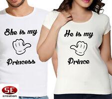 He Is My Prince Princess partner look coppiette T-shirt AMORE MATRIMONIO REGALO