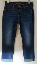 Juniors' Size 5 Arizona Cropped Jeans, Lightly Distressed, Skinny