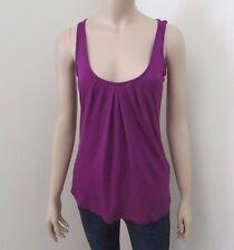 Kirra Butterfly Sequin Tank Top Shirt Size XS Cami Purple Shine Racerback