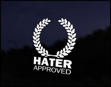 Hater Approved Euro Vag Car VW Decal Sticker Vehicle Bike Bumper Vinyl Graphic
