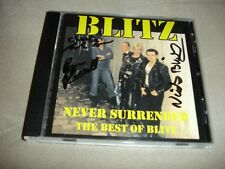 Blitz The Best Of Never Surrender CD Autographed