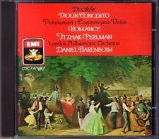 Itzhak PERLMAN: DVORAK Violin Concerto Romance BARENBOIM EMI CD Daniel